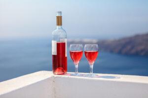 Wine on the Greek coast